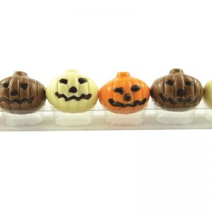 six assorted colour chocolate pumpkins