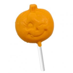 orange chocolate pumpkin lollipop