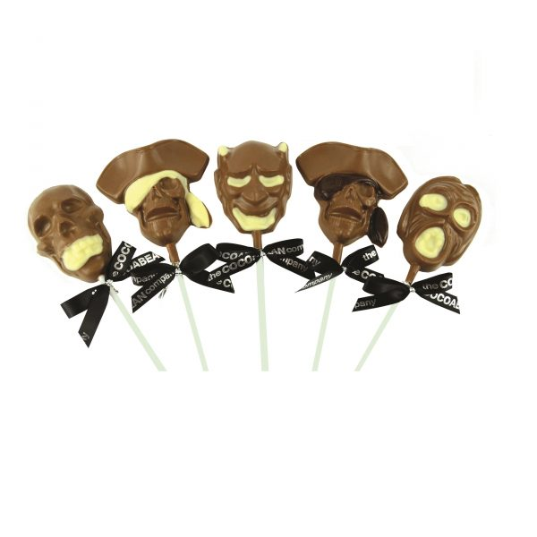 spooky chocolate faces lollipops