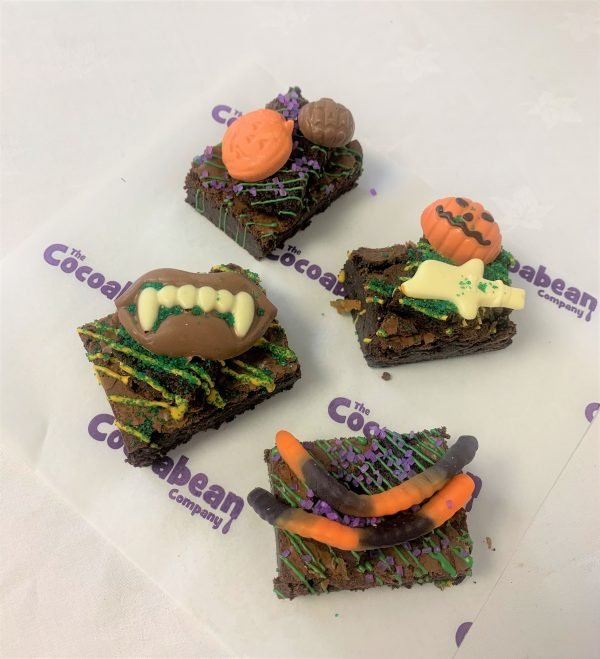 halloween brownie selection box