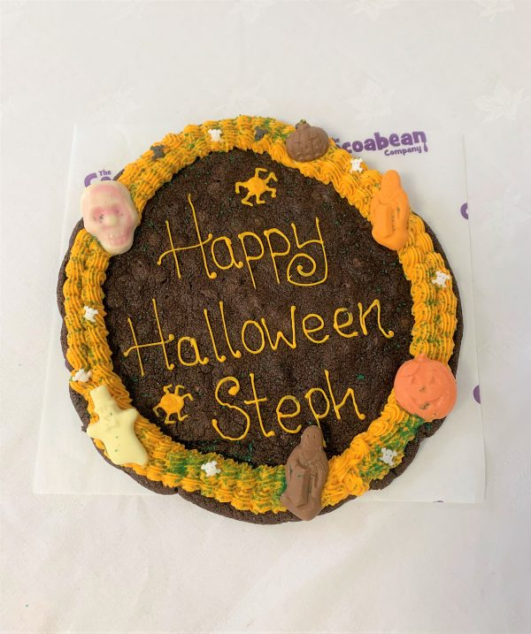 Giant halloween themed cookie