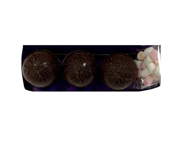 dark chocolate hot chocolate bombs