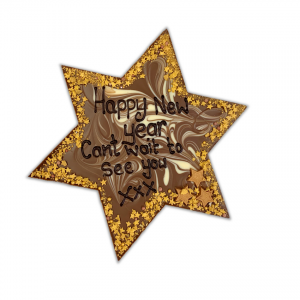 personalised half kilo giant chocolate star with message