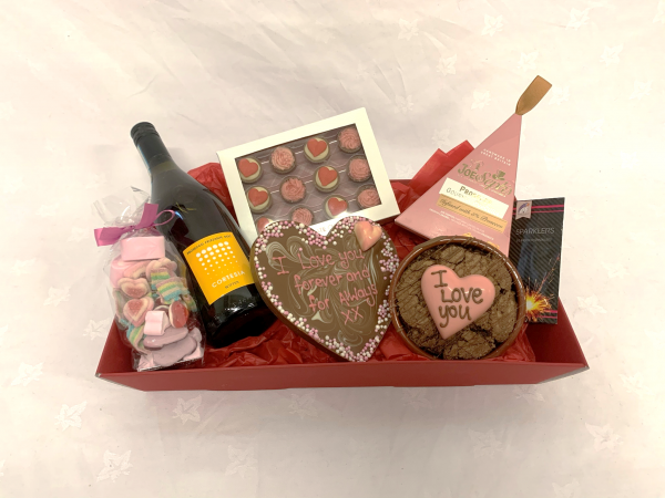 big night in box - valentine's night in (prosecco, chocolate, popcorn)
