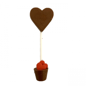 double ended chocolate lollipop with hearts