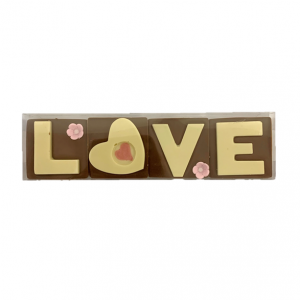 LOVE letters in chocolate
