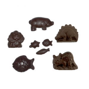 dark chocolate animal shapes