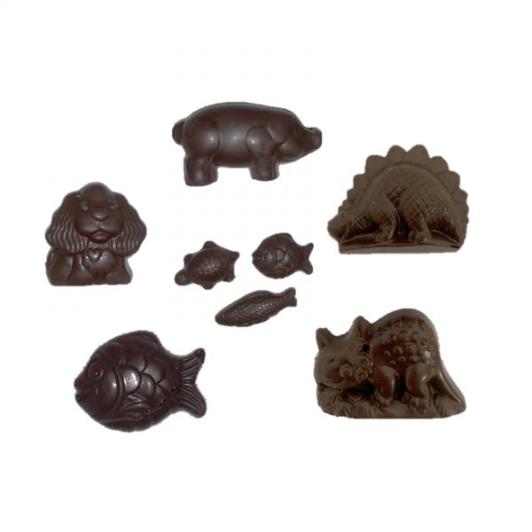 dark chocolate animal shapes