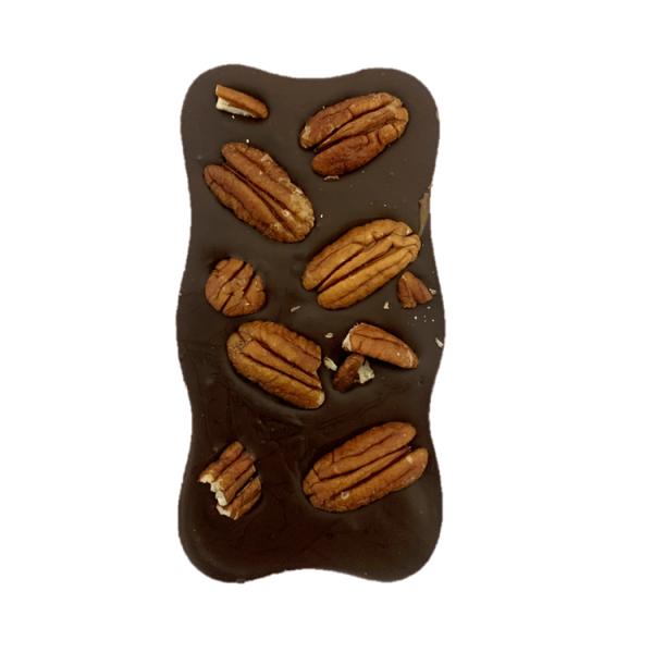 DARK CHOCOLATE WAVY BAR WITH NUTS