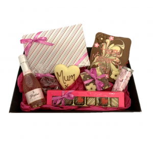 mother's day luxury chocolate hamper with prosecco and sweets