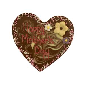 heart shaped chocolate slab for mothers day