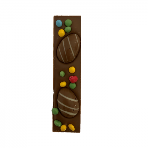 milk chocolate finger bar with easter decoration