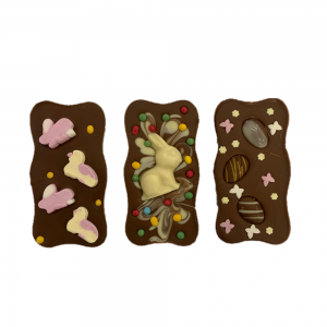 easter spring themed wavy chocolate bars