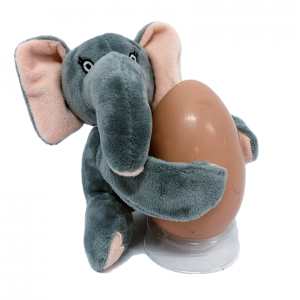Elephant teddy slap wrist band with pink chocolate egg