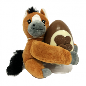 horse teddy and easter egg