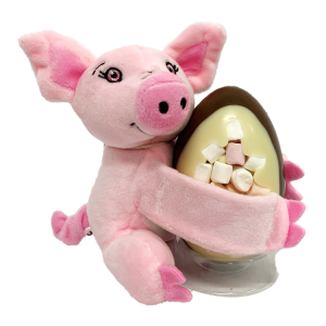 PIG TEDDY AND EASTER EGG