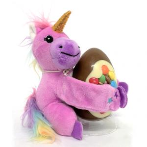 unicorn teddy with easter egg
