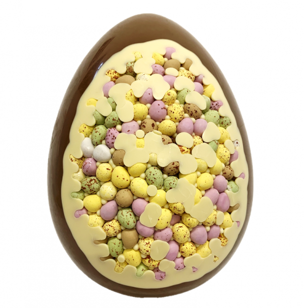 giant chocolate easter egg with mini egg inclusion