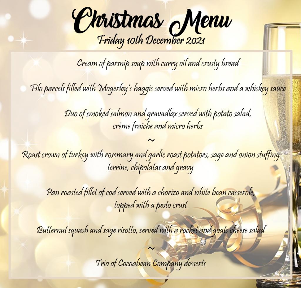Christmas Party Night 2021 Menu - Web Version