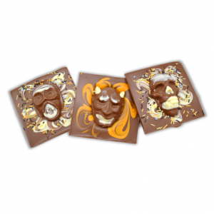 halloween chocolate bar with scary faces