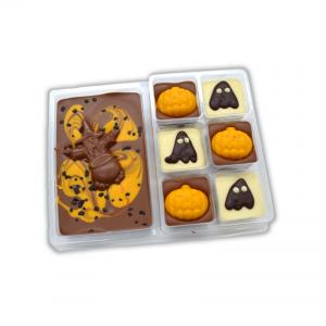 halloween slab and six chocolates