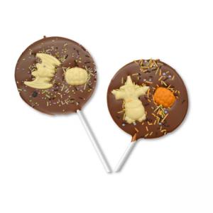 chocolate halloween sprinkle lollipops